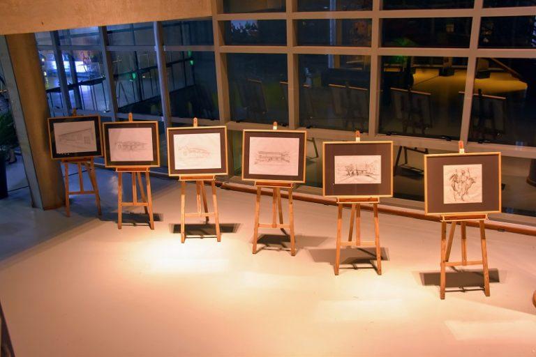 Desenhos da sedes do curso. Por Floreal Arias